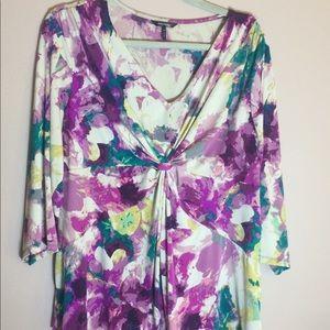 Daisy Fuentes 3/4 sleeve top